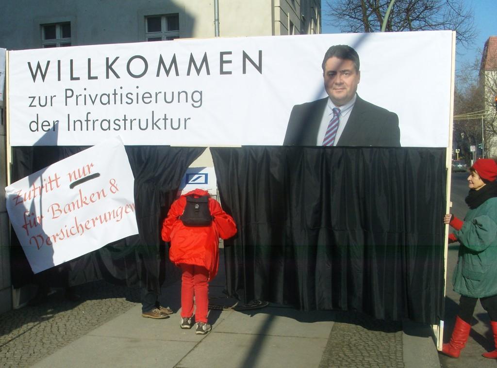 "Aktion ""Gabriel stoppen!"", Bild: Jürgen Thierfelder"