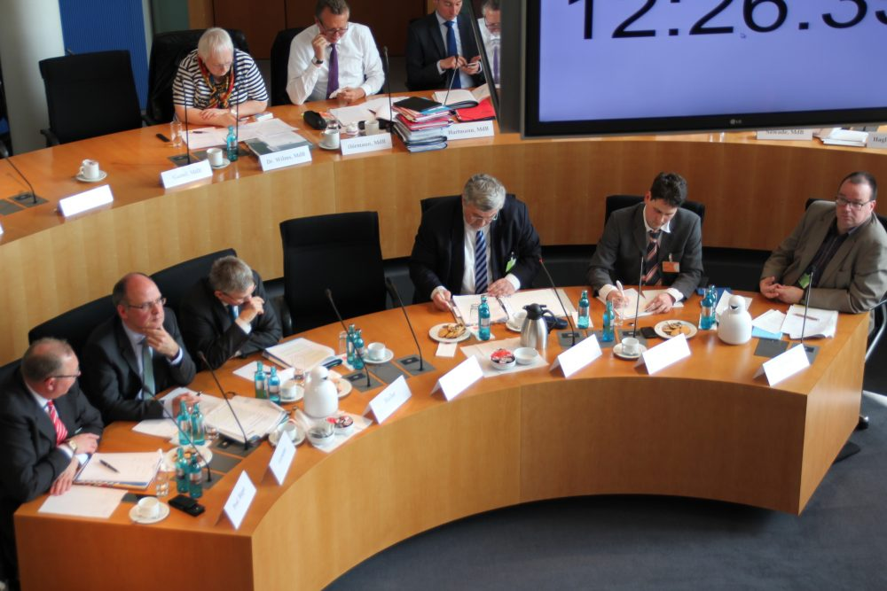 Bild: GiB. Anhörung im Verkehrsausschuss des Bundestags