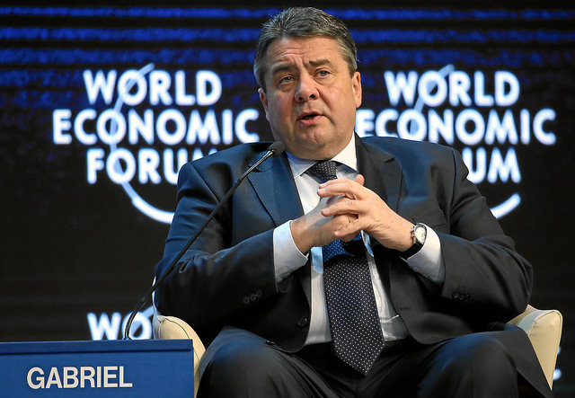 Sigmar Gabriel, Quelle: WORLD ECONOMIC FORUM/swiss-image.ch/Photo Remy Steinegger, (CC BY-NC-SA 2.0)